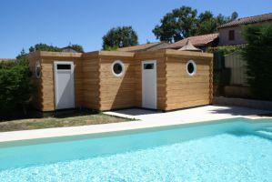 Piscines concept bois pr sentation de nos abris for Abri de jardin pour local technique piscine